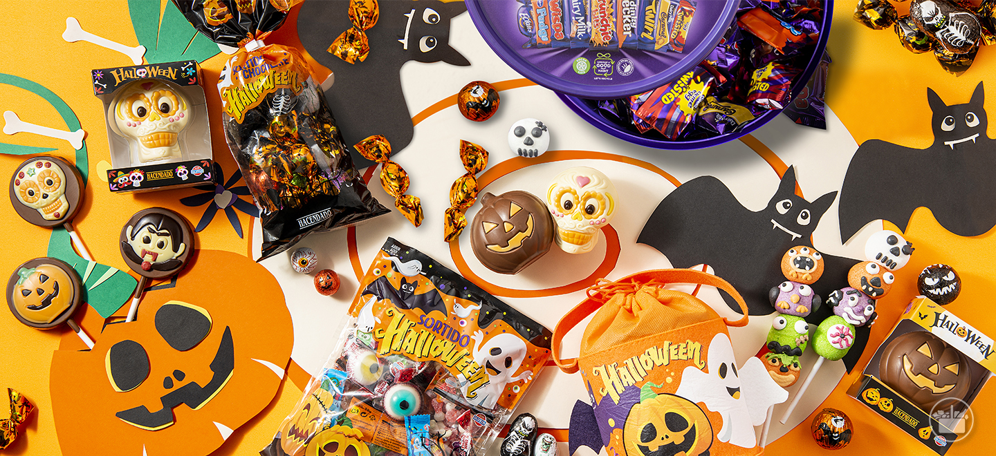 Celebre o Halloween com as gomas e os chocolates mais assustadores e divertidos.